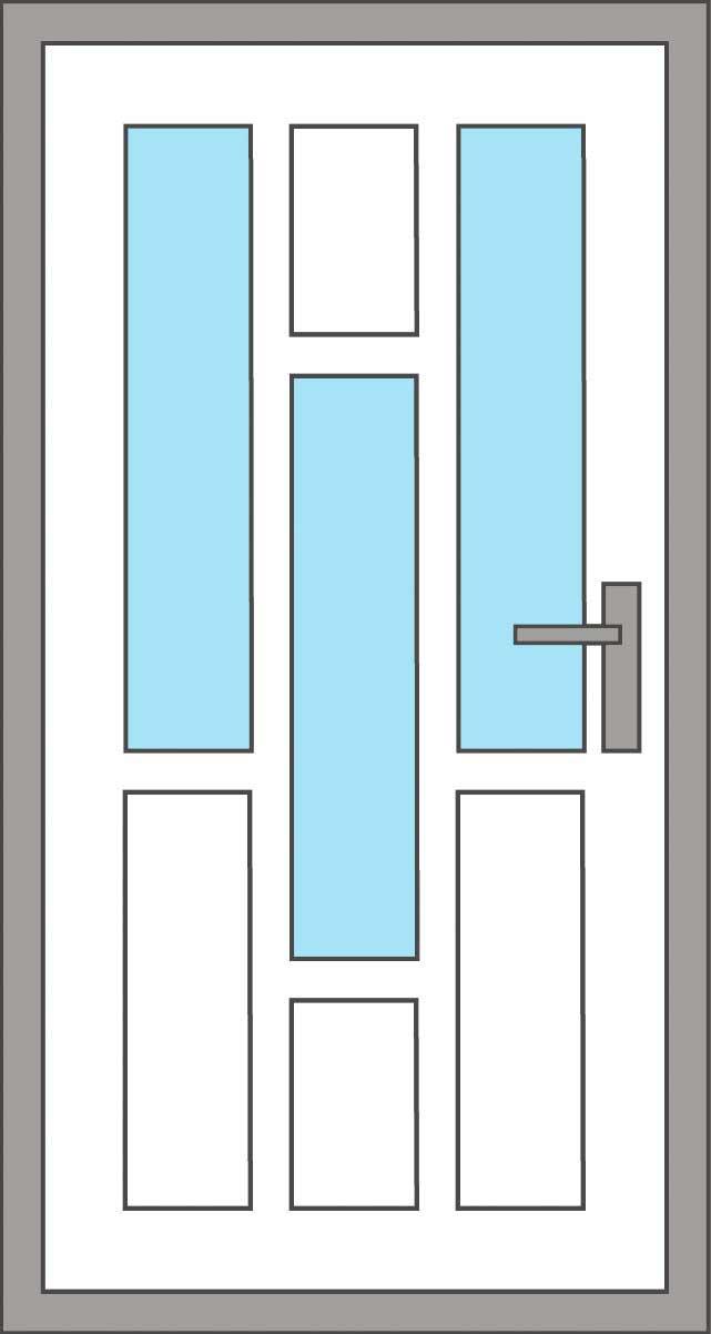 Modelos de puertas con montante metal glass for Ver modelos de puertas