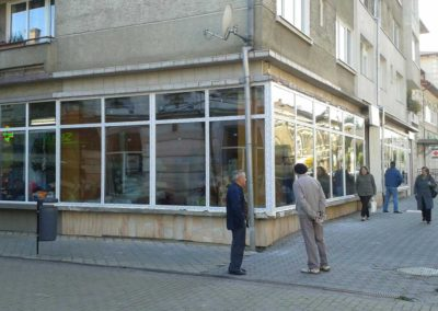 Installation of PVC window to commercial space in Vatra Dornei