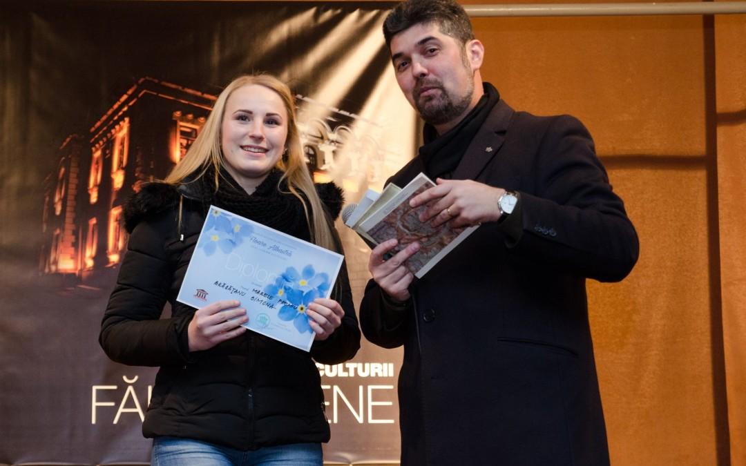 Câștigătorul marelui premiu, oferit de Metal Glass, la Concursului de Recitare din Lirica Eminesciană din data de 15.01.2016, eveniment organizat de Asociația Fălticeni Cultural