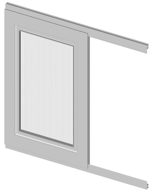 Plase Insecte Tip Glisant - Ral 9010